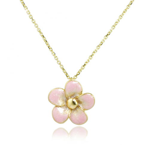Apple Blossom Golden 585 Necklace