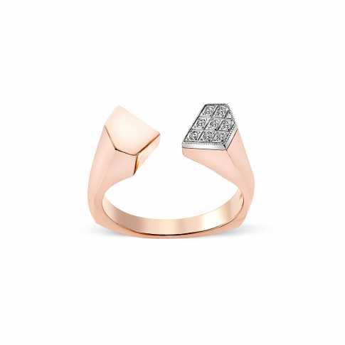 8 Diamonds Rose Gold Ring