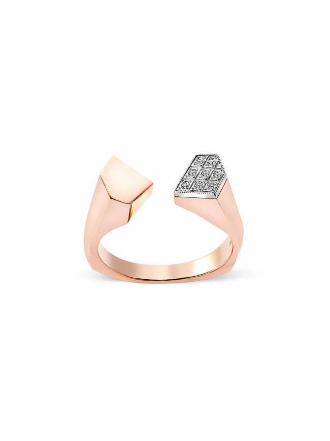 8 Diamonds Rose Gold Ring