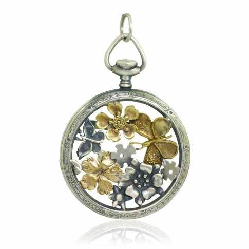 Silver Pendant Lucky Watch