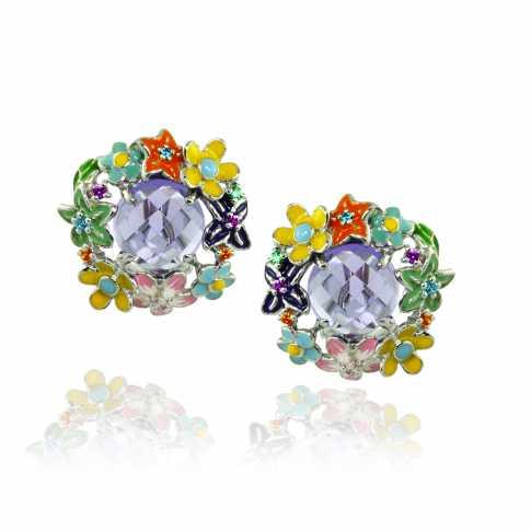 Spring Meadow Silver Earrings