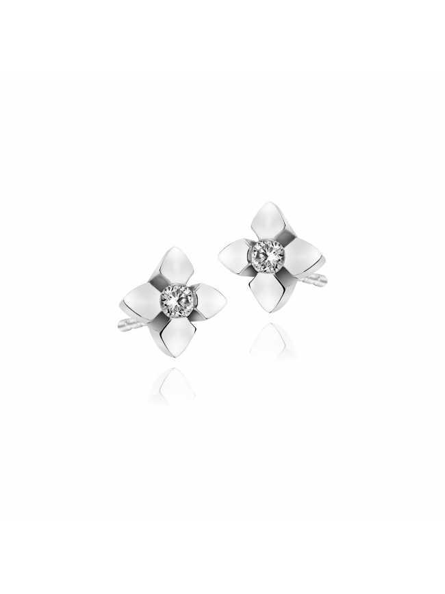 White Gold Diamonds Earrings