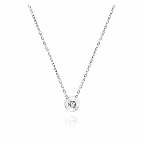 White Gold Diamond Oktagon Necklace