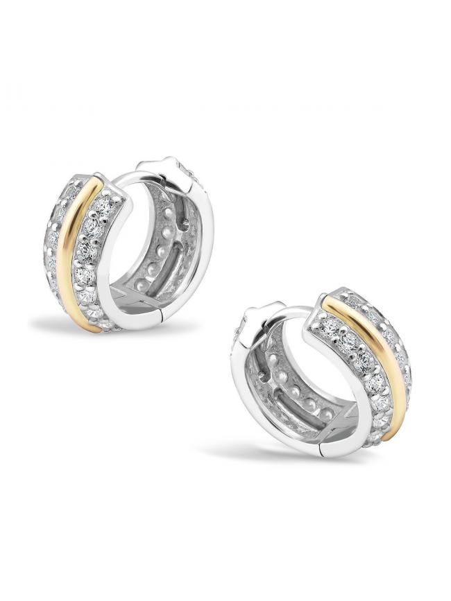 Kolczyki ze srebra i złota