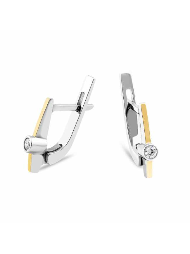 Silver and Gold 375 Earrings