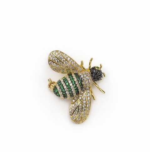 Silver BEE Brooch LINEARGENT