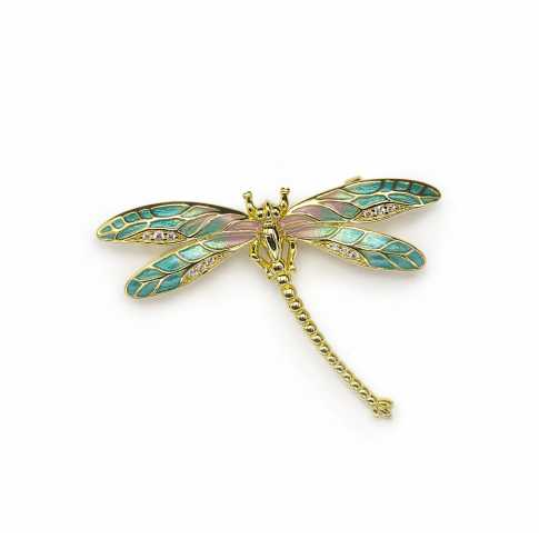 LINE ARGENT Silver Fragonfly Brooch