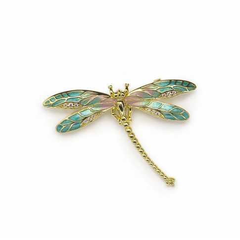 LINE ARGENT Silver Fragonfly Brooch
