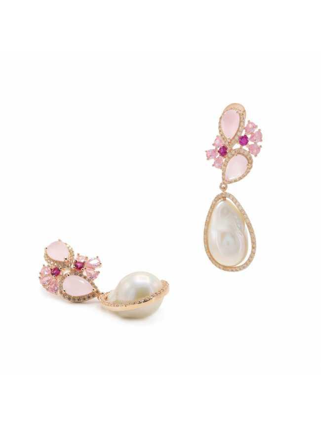 Kolczyki z perłami LINE ARGENT