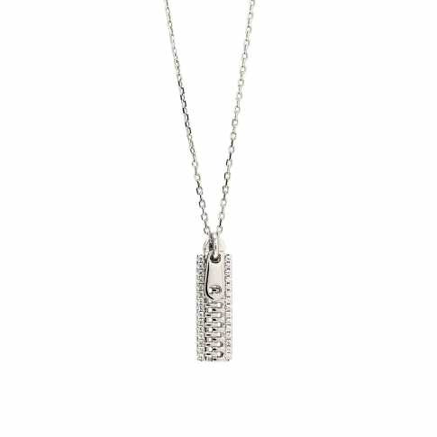 LINEARGENT Silver ZIP Necklace