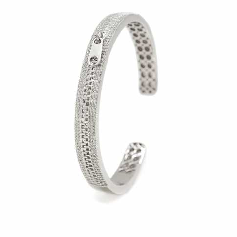 LINEARGENT Silver ZIP Bracelet