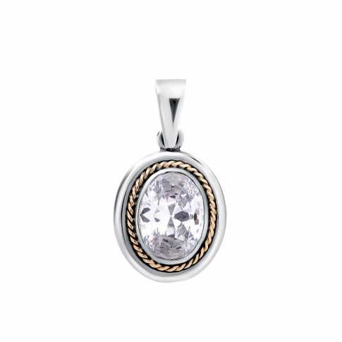 Silver Pendant with Gold