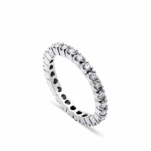 White Gold Tennis Diamonds Ring