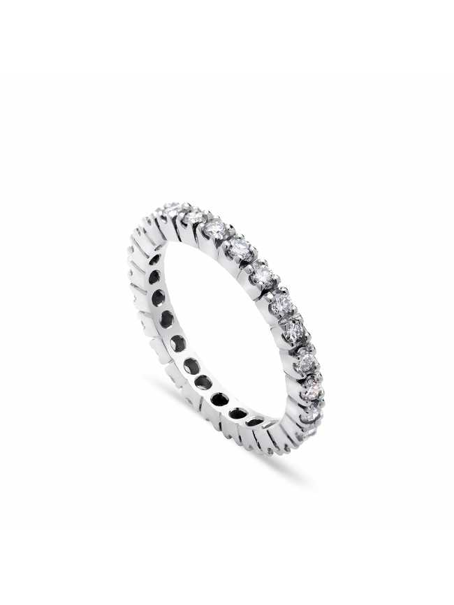 White Gold Tennis Diamonds Ring
