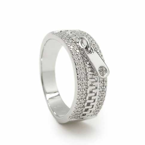 LINEARGENT Silver ZIP Ring