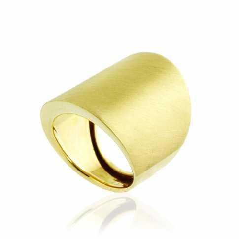 SPLENDIDA Duży Złoty Pierścionek