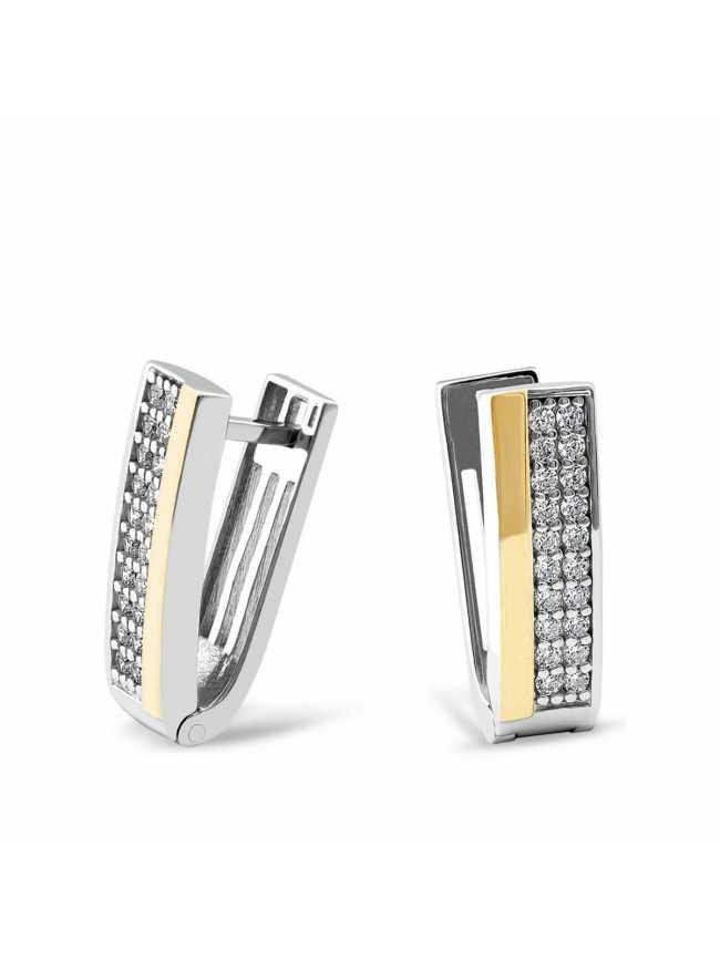 Klasyczne kolczyki ze srebra i złota