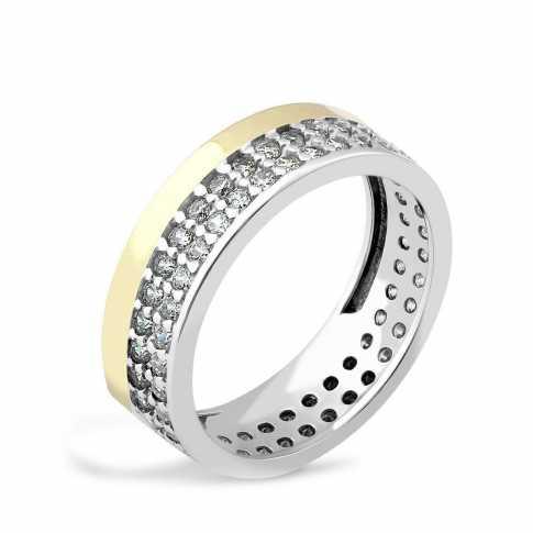 Pierścionek ze srebra i złota
