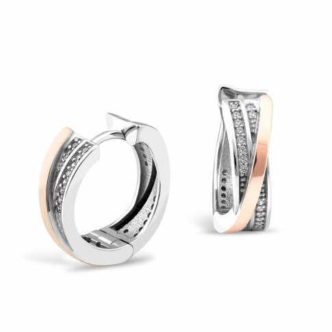 Circle Zircons Earrings