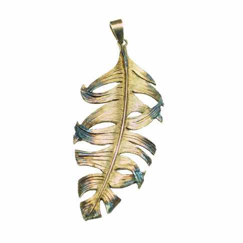 Pióro - duża srebrna zawieszka