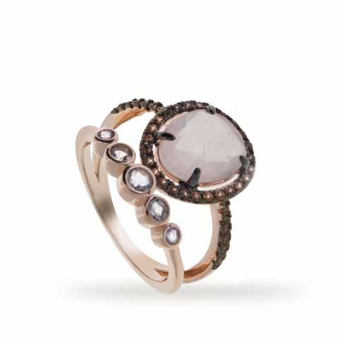 LINEARGENT Quartz Ring