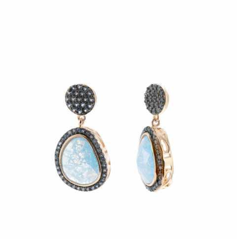 LINEARGENT Rose Gold QUARTZ Earrings