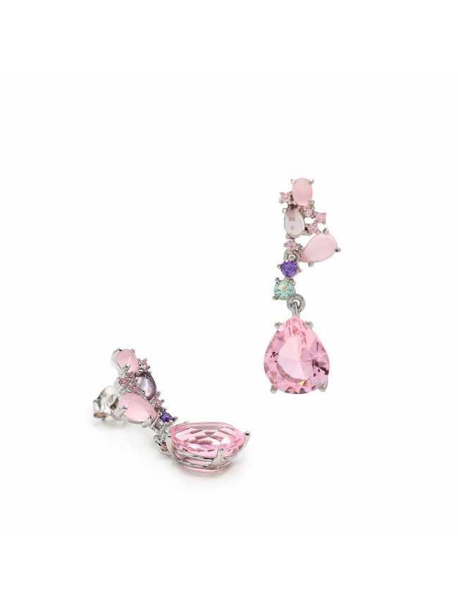 Kolczyki z różowymi kamieniami
