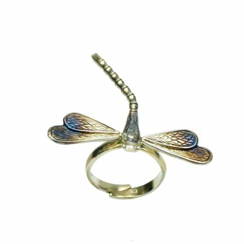 Ważka - srebrny pierścionek