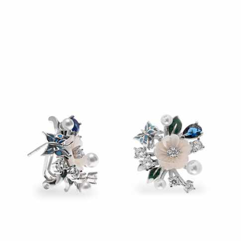 LineArgent Flowers and Pearls Earrings