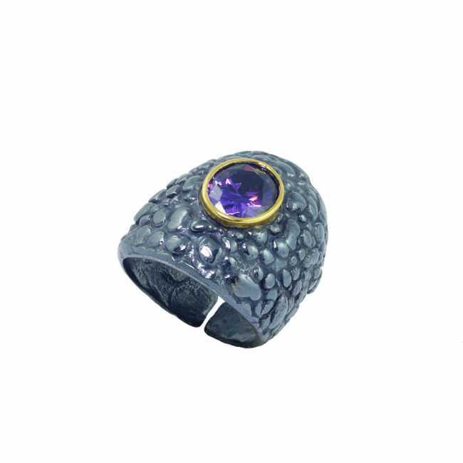 Duży srebrny pierścionek