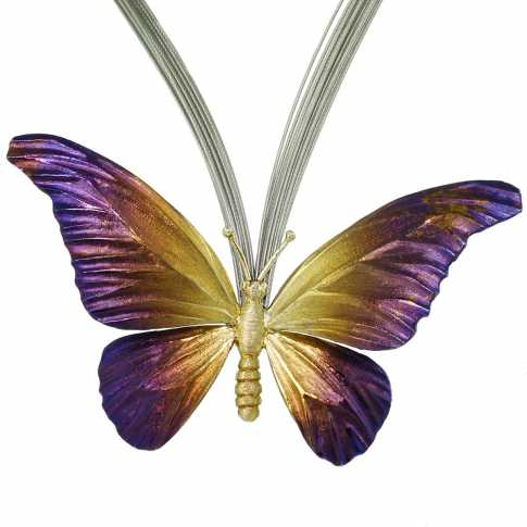 Butterfly - Silver Necklace