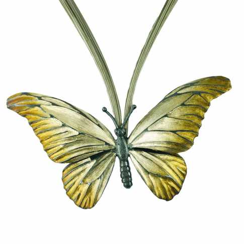 Silver Necklace Butterfly