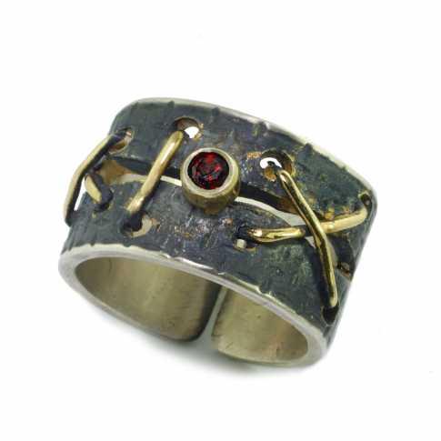 Srebrny pierścionek JAN LEKSZYCKI