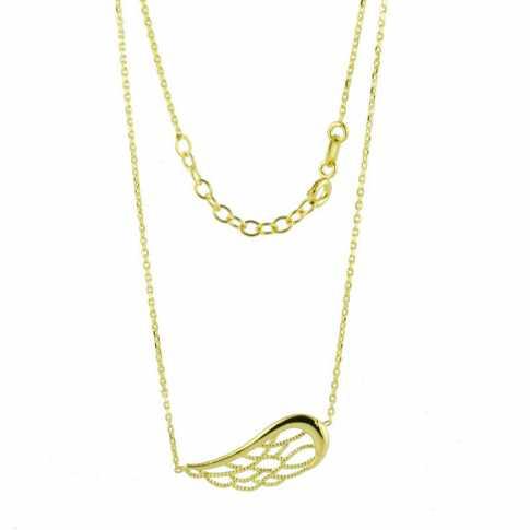 Złoty naszyjnik Skrzydło Anioła