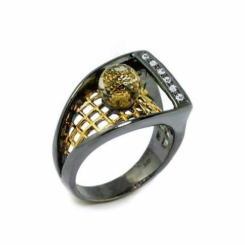 Srbrny pierścionek German Kabirski