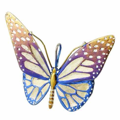 Kolorowy Motyl - Srebrna Zawieszka