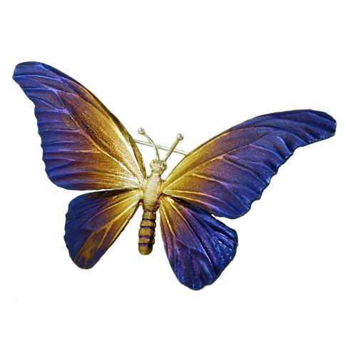 Srebrna Broszka Motyl