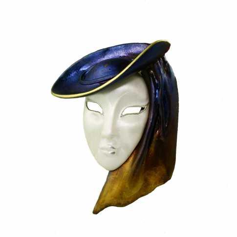 Maska Wenecka - srebrna broszka